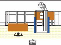 Фотоэлементы и бампера обрабатывающего центра с ЧПУ Morbidelli M 400
