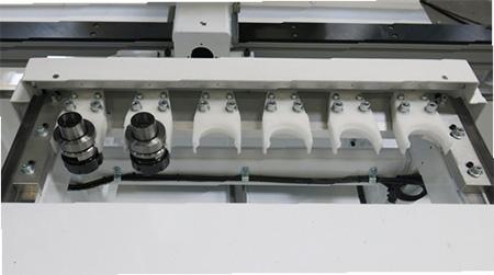 Автоматический магазин смены инструмента пильного центра с ЧПУ с MASTER.CUT, производство Bacci Италия