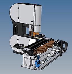 Конструкция стола ленточнопильного станка с DUPLEX, производство Bacci Италия