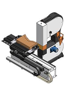 Конструкция стола ленточнопильного станка с ЧПУ DUPLEX CNC, производство Bacci Италия