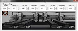 Настройка упоров/траверс пильного центра с ЧПУ MASTER.CUT, производитель Bacci Италия