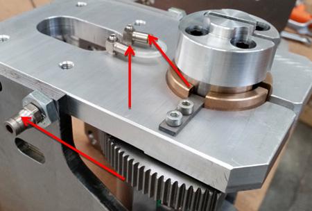 Поворотный узел для ленточнопильного центра с ЧПУ Atlantis, производство Bacci Италия
