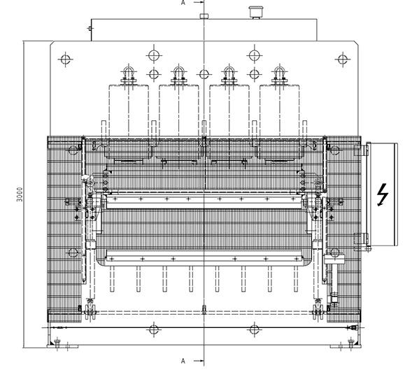 Структура гидравлического пресса для тиснения PSA S, производство Orma Macchine Италия