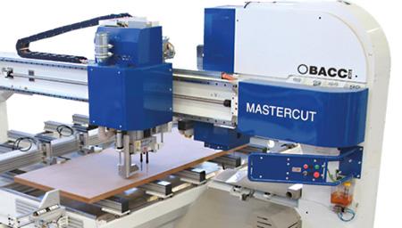 Сверлильный и фрезерные узлы пильного станка с MASTER.CUT, производство Bacci Италия