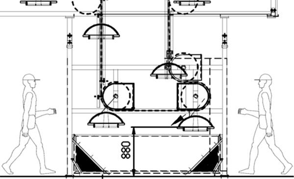 Рабочая станция 1 Биланчелли - карусельная установка ручной окраски, сушки и шлифовки для нестандартных деталей и малых партий