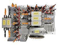 Пятиосная голова JQX со шпинделем обрабатывающего центра с ЧПУ SCM Morbidelli M90
