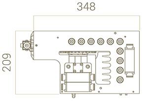 17-ти шпиндельная сверлильная головка станка Modular CN, производство Fiorenza (Италия)