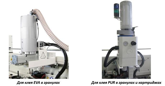 Предплавители клея для кромкооблицовочных станков в мебельном производстве