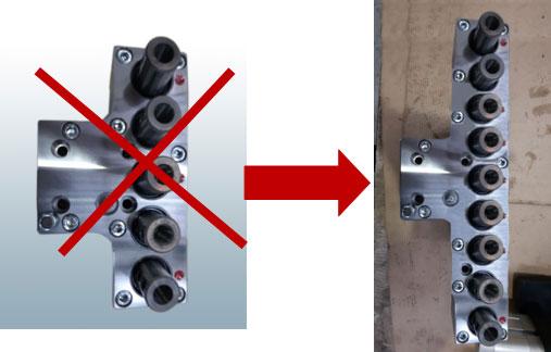 Замена 5-ти шпиндельных сверлильных головок на 9-ти шпиндельные станка BL-2, производство Fiorenza (Италия)