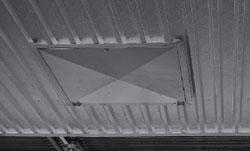 Алюминиевый фальш-потолок сушильной камеры ICD, производство Incomac (Италия)
