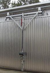 Гидравлическая тележка для открывания ворот сушильной камеры ICD, производство Incomac (Италия)