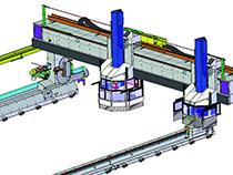 Модульный принцип компоновки обрабатывающего центра с ЧПУ для домостроения PMT, производство SCM (Италия)