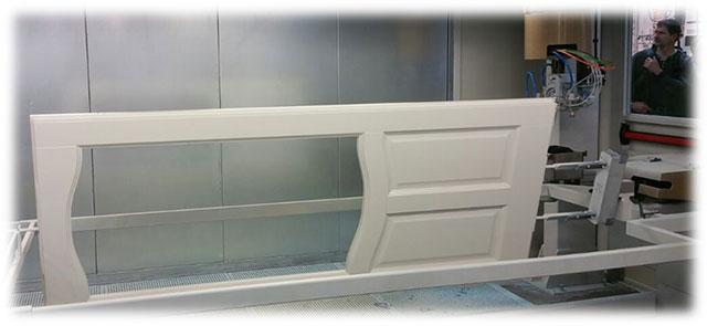 Система автоматического поворота двери автоматического робота окраски распылением для дверей, производство Giardina Group Италия