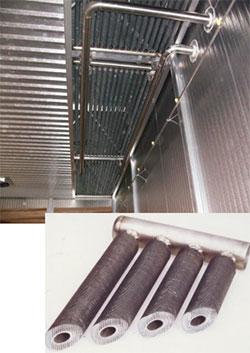 Система отопления с жидким теплоносителем сушильной камеры ICD, производство Incomac (Италия)