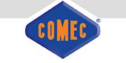 Логотип компании Comec, поставка запчастей для станков от Текноком